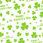 Seamless Saint Patricks Day Background — Stok Vektör