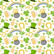 Seamless Saint Patricks Day Background — Stock Vector #39847261