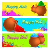 Colorful Happy Holi — Stock Vector
