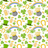 Seamless Saint Patricks Day Background — Stock Vector