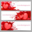 Love Banner for Valentine's Day — Stock Vector