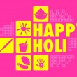 Colorful Happy Holi — Stock Vector