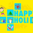 Colorful Happy Holi — Stock Vector #39852025