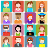 Flat Design People Icon — Stockvector