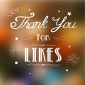 Thank you for Likes — Stock Vector