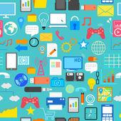 Seamless Social Media Pattern — Stock Vector