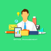 Office Management — Stock Vector