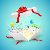 Celebration Surprise Gift — Stock Vector