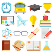 Flat Education Icon — Stock Vector