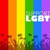 LGBT support — Stock Vector