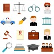 Stock Vector: Law and Justice icon