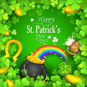 Saint Patricks Day Background — Stock Vector