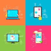Online Technology — Stock Vector