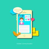 Mobilní sociální média — Stock vektor