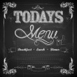 Stock Vector: Menu written on Chalkboard