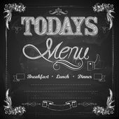 Menu written on Chalkboard — Stock Vector