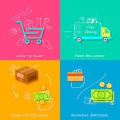E commerce concept — Stock Vector