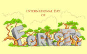 International Day of Forest — Stock Vector