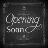Opening Soon written on chalkboard — Stock Vector