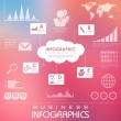 Business Infographics Chart — Stock Vector
