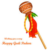 Gudi Padwa — Vettoriale Stock