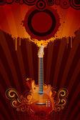 Sgangherata chitarra — Vettoriale Stock