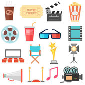 Movie and Film icon set — Stock Vector