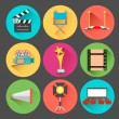 Movie and Film icon set — Stock Vector #44760163