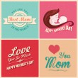 Happy Mothers Day card template — Stock Vector