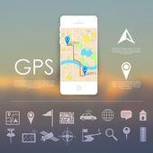 GPS Navigation Concept — Stock Vector