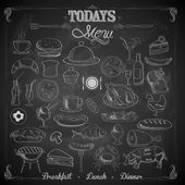 Menu Chalk board — Stock Vector