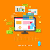 Pay per Click Concept — Stock Vector