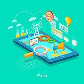 Search Engine Optimization concept — Stock Vector