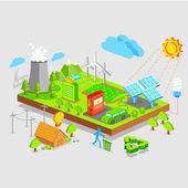 Zelená země — Stock vektor