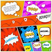 Komik konuşma balonu — Stok Vektör
