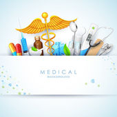 Healthcare and Medical Background — Stock Vector