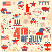 4th of July design element — Wektor stockowy