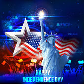 4th of July background — Stock Vector