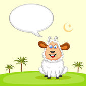 Sheep wishing Eid mubarak — Stock Vector