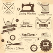 Vintage style sewing and tailor label — Stock Vector #49651801