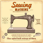 Vintage sewing machine — Stock Vector
