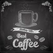 Hot Coffee on chalkboard — Stock Vector