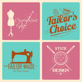 Vintage style label for tailor emblem — Stock Vector