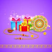 Raksha regalo bandhan — Vettoriale Stock