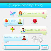 Happy Friendship Day message — Cтоковый вектор