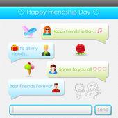 Lycklig väns dag meddelande — Stockvektor