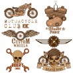 Motorcycle Design Element — Stock Vector
