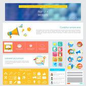 Projektowanie interfejsu użytkownika — Wektor stockowy