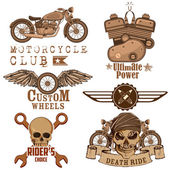 Motorcycle Design Element — Vecteur