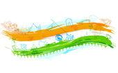 Fond indien avec monument — Vecteur